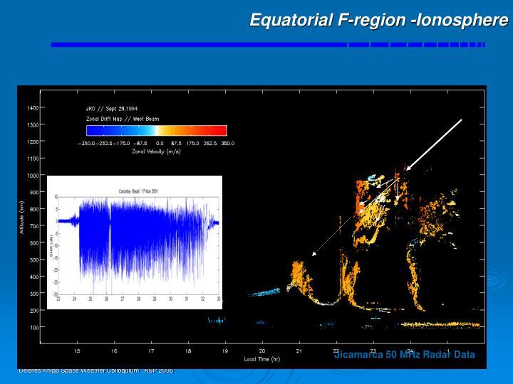 Equatorial F-region -Ionosphere