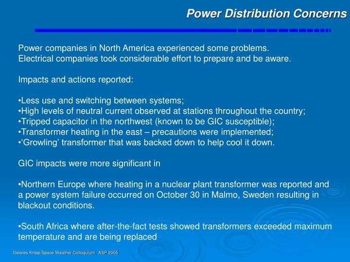 Power Distribution Concerns