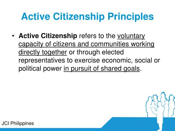 Active Citizenship Principles