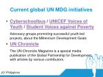 current global un mdg initiatives1