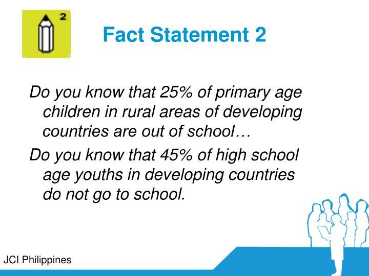 Fact Statement 2