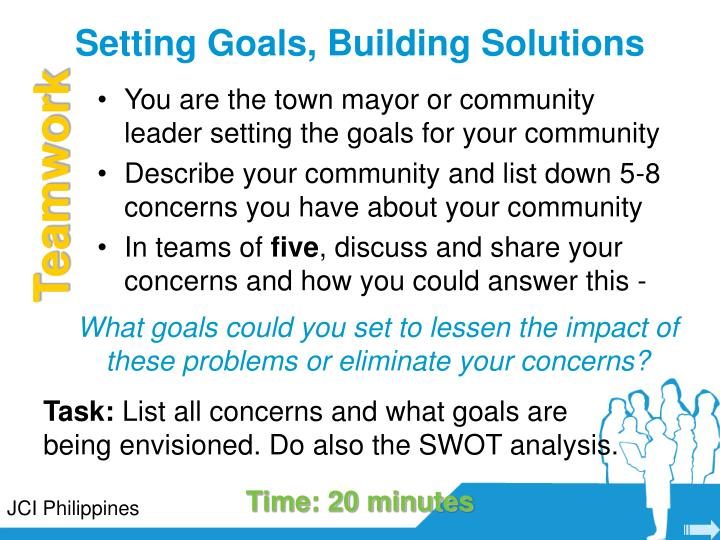 Setting Goals, Building Solutions