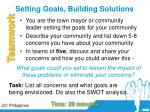 setting goals building solutions