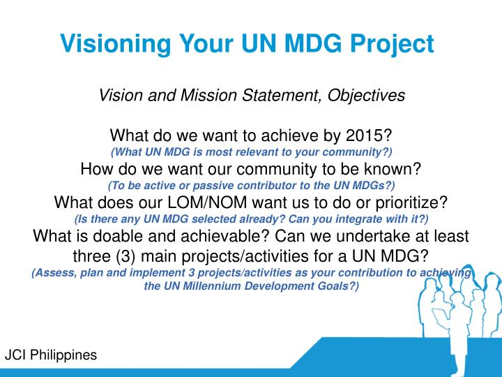 Visioning Your UN MDG Project