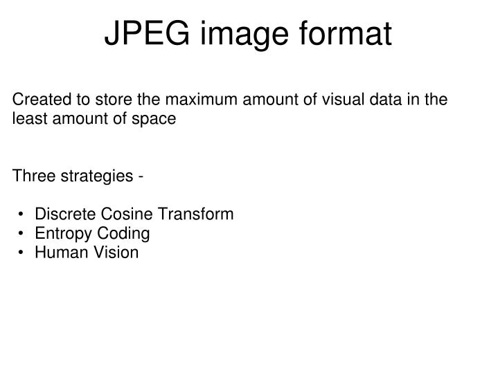 JPEG image format