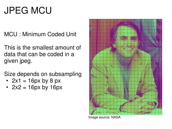 MCU : Minimum Coded Unit