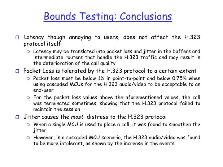 Bounds Testing: Conclusions