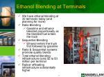 ethanol blending at terminals