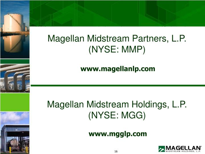 Magellan Midstream Partners, L.P. (NYSE: MMP)