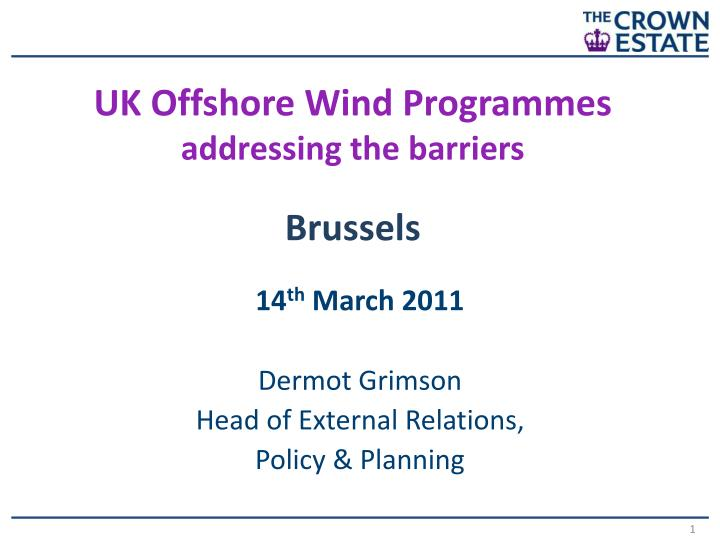 UK Offshore Wind Programmes