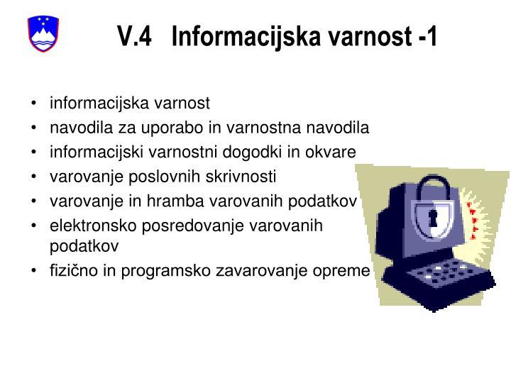 V.4   Informacijska varnost -1