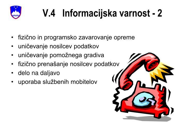 V.4   Informacijska varnost - 2