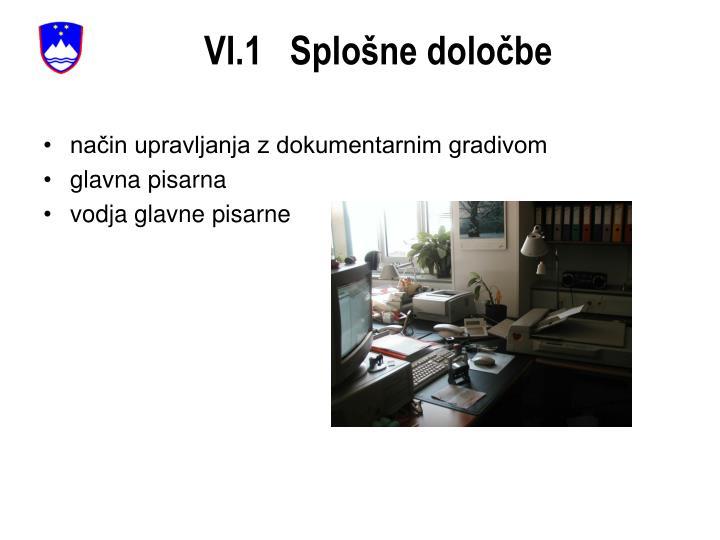 VI.1   Splošne določbe