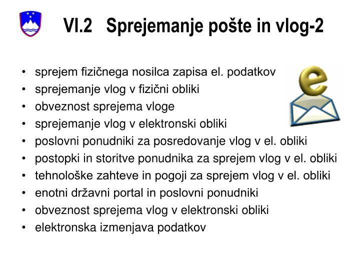 VI.2   Sprejemanje pošte in vlog-2