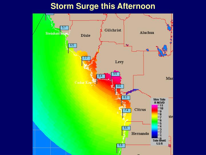 Storm Surge this Afternoon