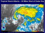 tropical storm alberto 65 miles west of cedar key
