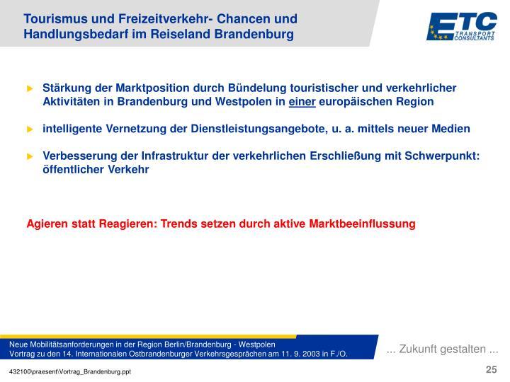 Tourismus und Freizeitverkehr- Chancen und