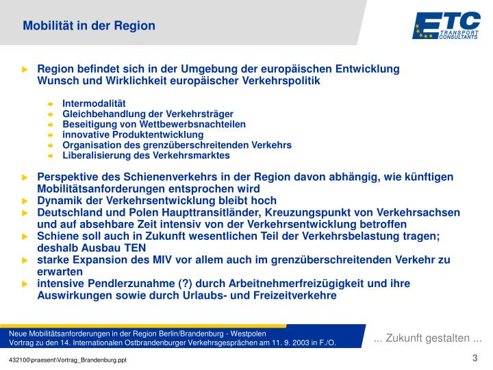 Region befindet sich in der Umgebung der europäischen Entwicklung