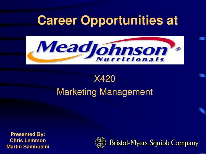 Career opportunities at