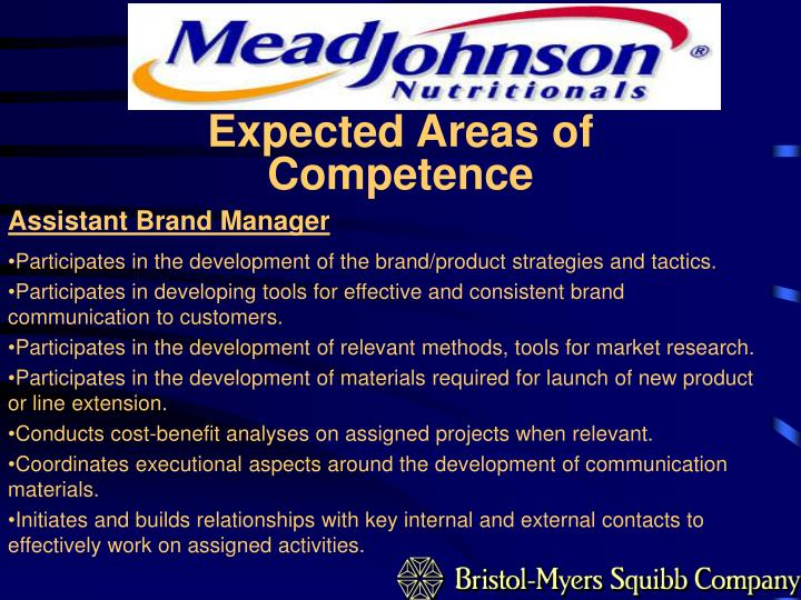 Expected Areas of Competence