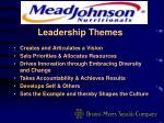 leadership themes