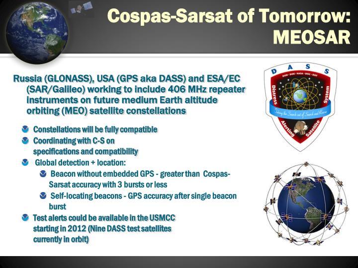 Cospas-Sarsat of Tomorrow: MEOSAR
