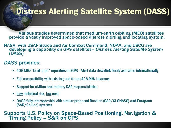 Distress Alerting Satellite System (DASS)