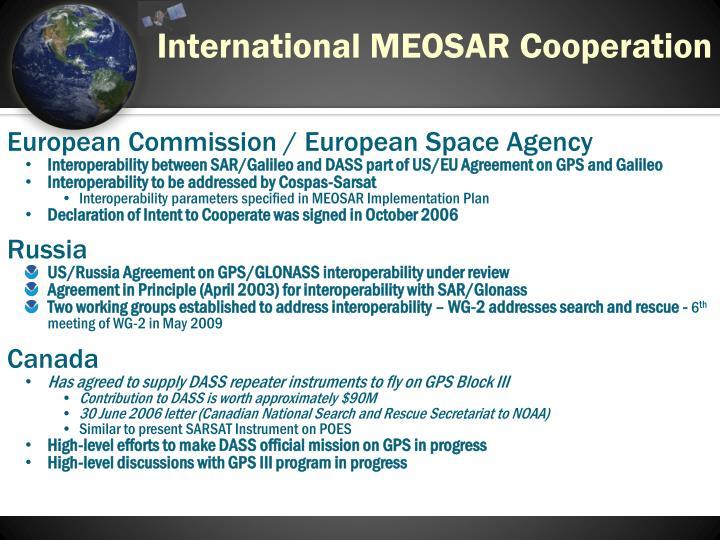 International MEOSAR Cooperation