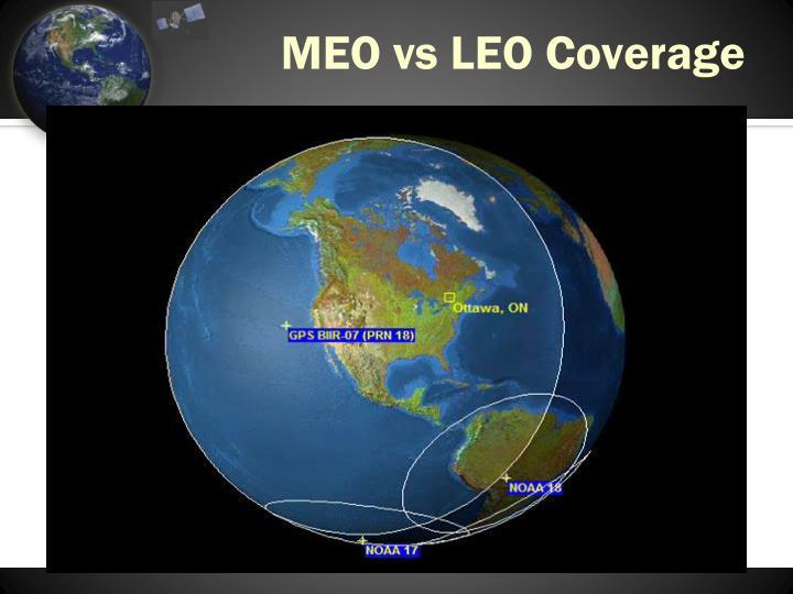 MEO vs LEO Coverage