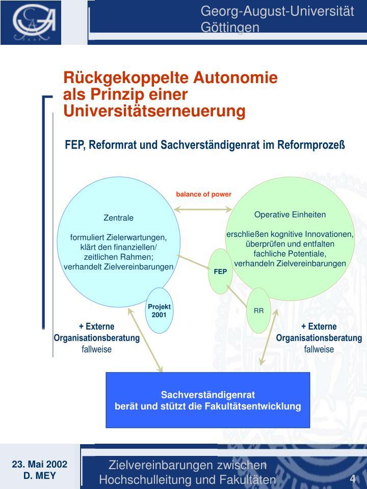Rückgekoppelte Autonomie