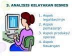 3 analisis kelayakan bisnis