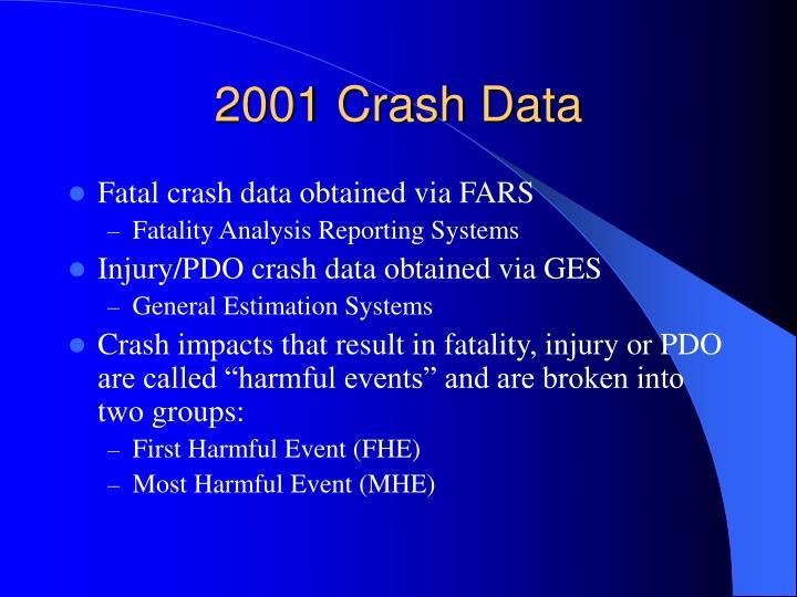 2001 Crash Data