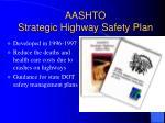 aashto strategic highway safety plan