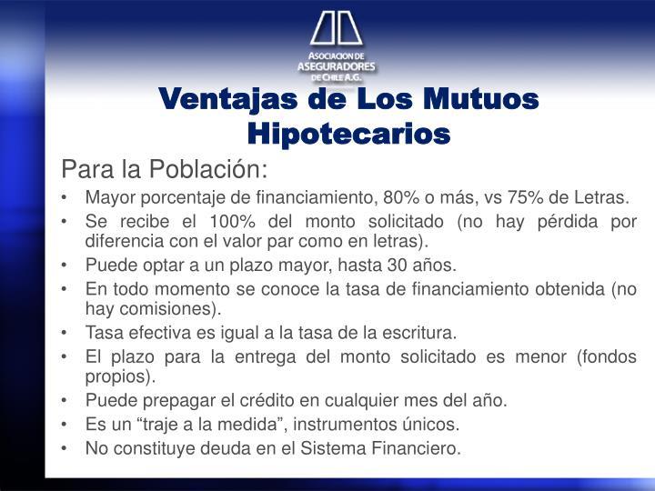 Ventajas de Los Mutuos Hipotecarios