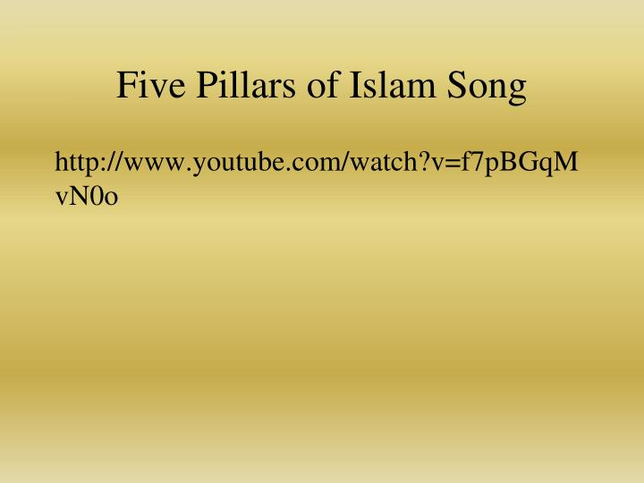 Five Pillars of Islam Song