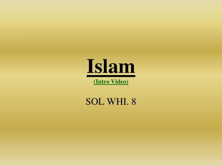 Islam intro video