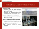 certifications of education units accreditations