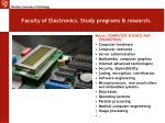 faculty of electronics study programs research