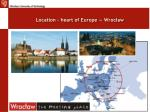 location heart of europe wroc aw