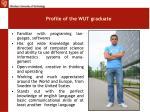 profile of the wut graduate