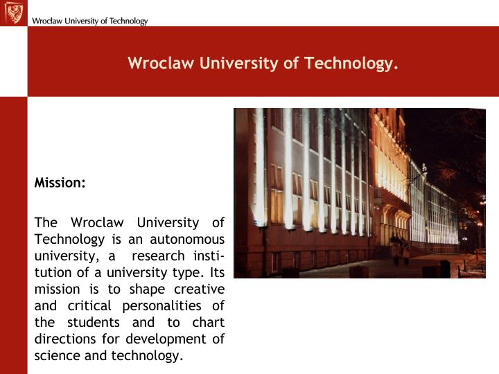 Wroclaw University of Technology.