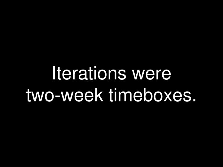 Iterations were