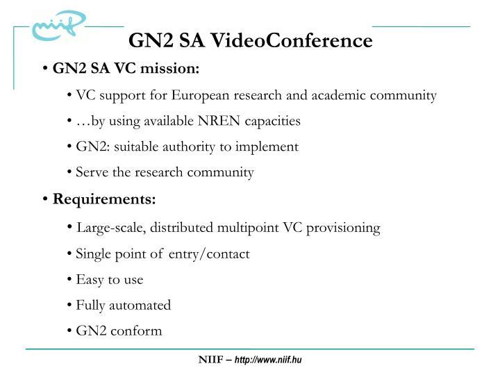 GN2 SA VideoConference