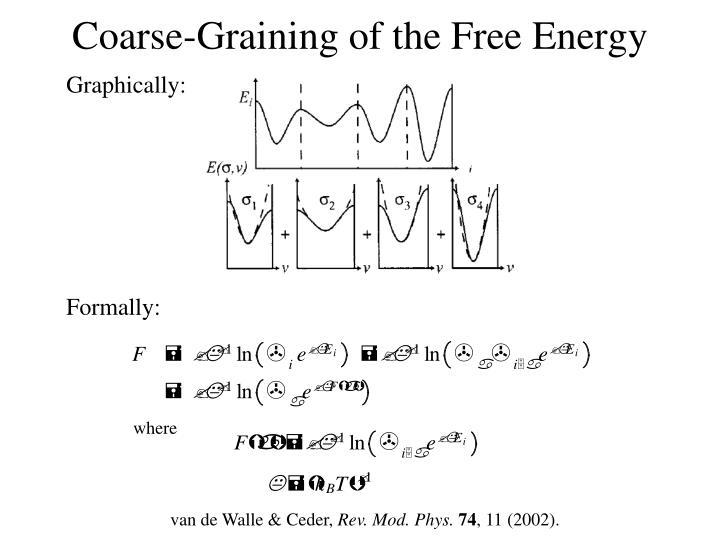 Coarse-Graining of the Free Energy