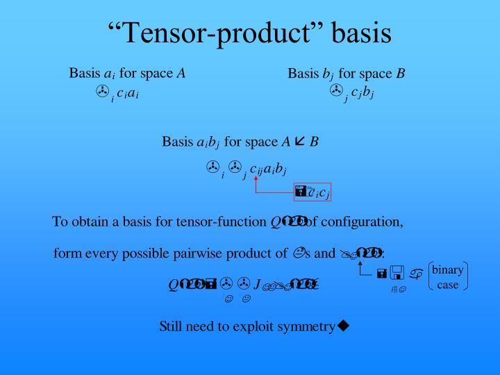 """""""Tensor-product"""" basis"""