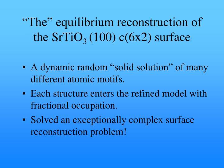 """The"" equilibrium reconstruction of"