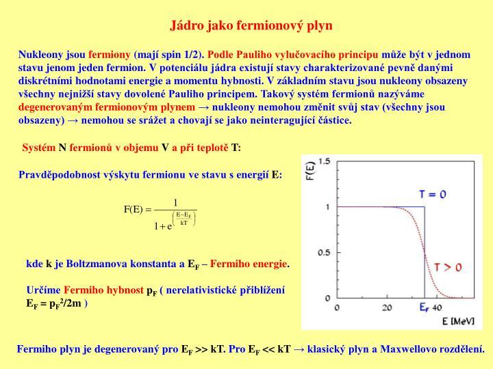 Jádro jako fermionový plyn