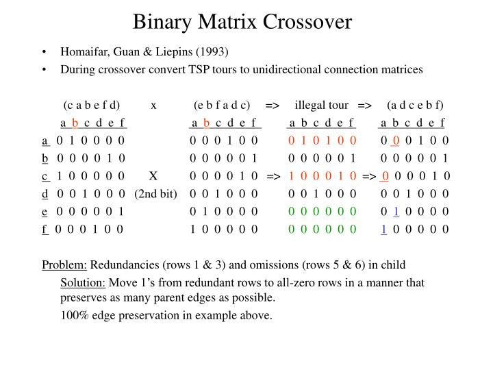 Binary Matrix Crossover