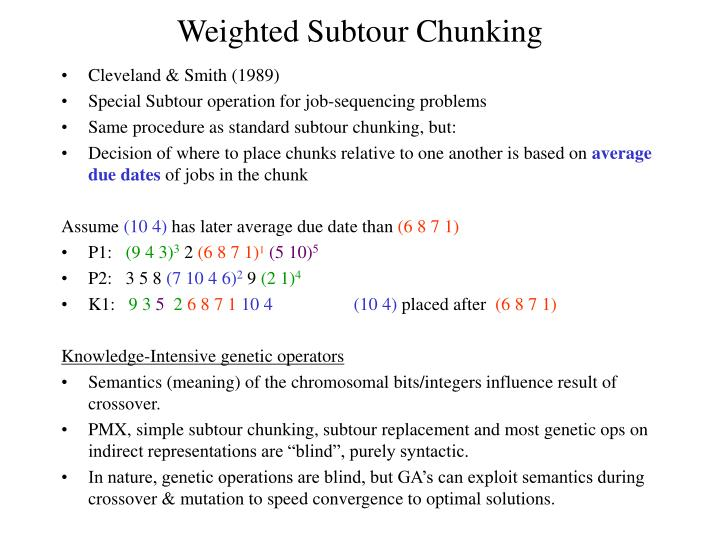 Weighted Subtour Chunking