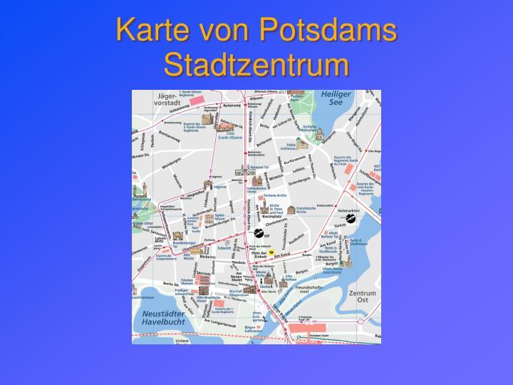 Karte von Potsdams Stadtzentrum